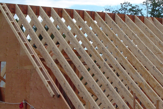 Tji roof joists best image voixmag com for Engineered wood framing
