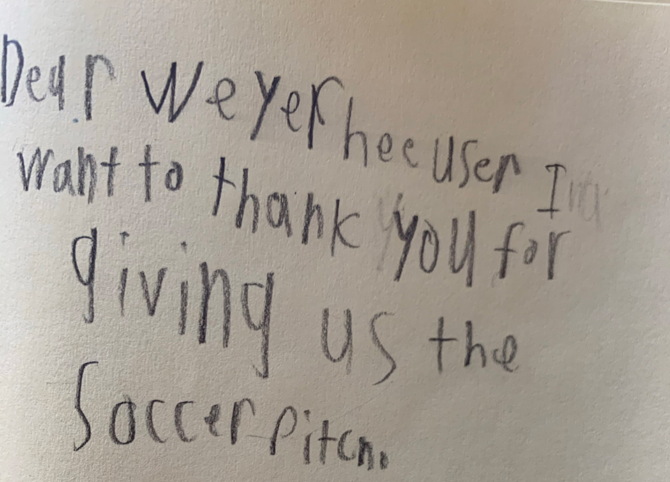 Thank You Note From Student